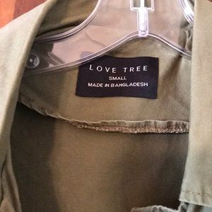 Love Tree Jackets & Coats - Army Green Ladies Vest